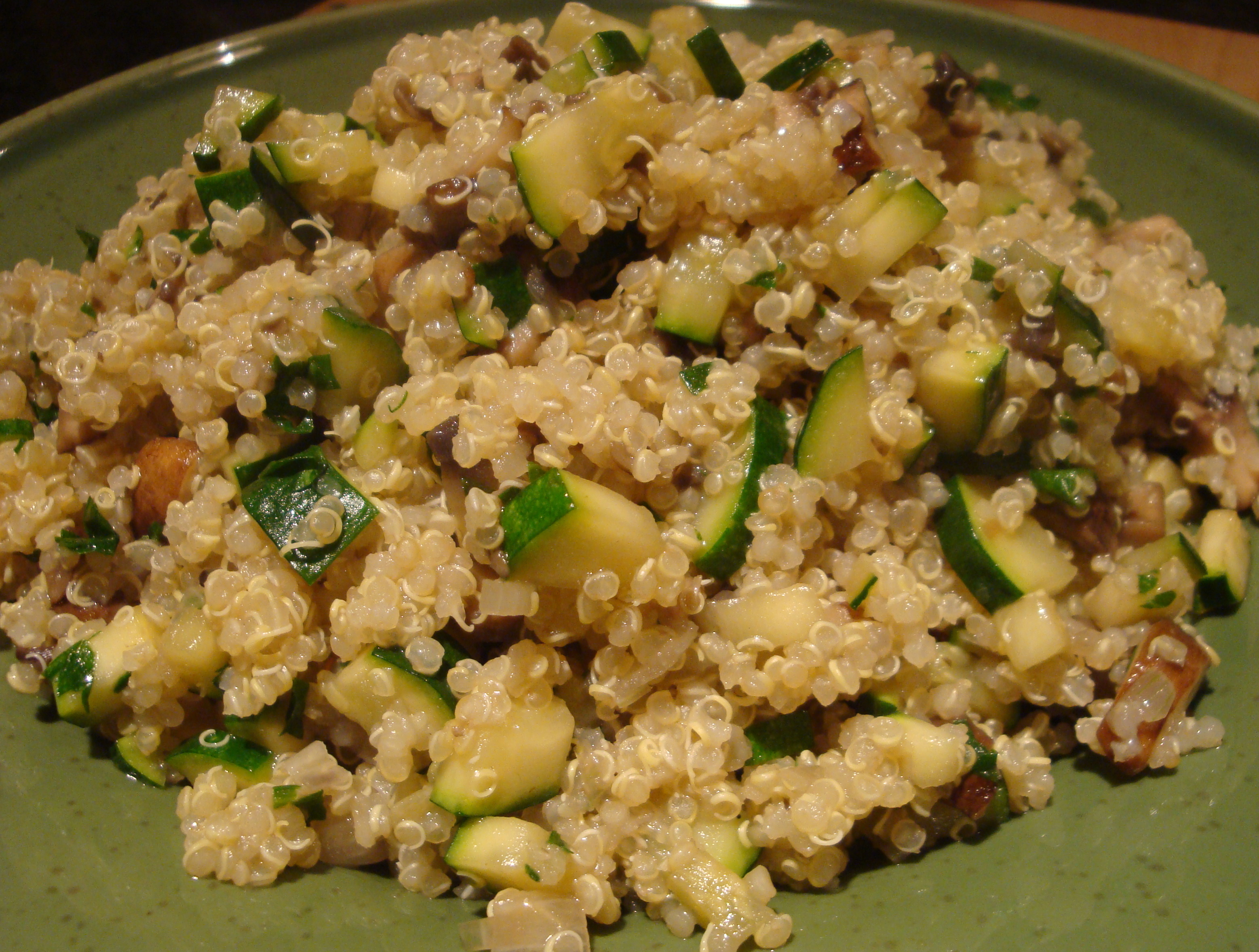 Quinoa with Zucchini and Portobello Mushrooms