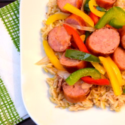 Kielbasa Peppers Basmati Rice