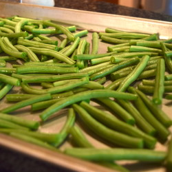 Green Beans Ready to Roast