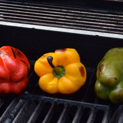 Grilled Peppers - almost done