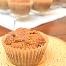 Quinoa Pumpkin Chocolate Chip Muffins