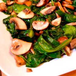 Simple Mushrooms and Greens
